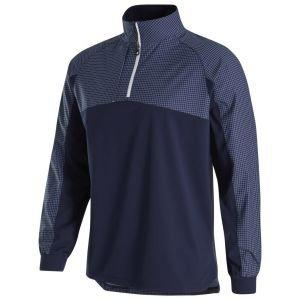 FootJoy HyperFlex Golf Pullover Navy/Grey Check 32672