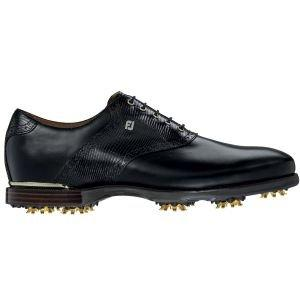Footjoy Icon Black Golf Shoes 52008 Mens Black Saddle