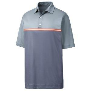FootJoy Jacquard Top Color Block Self Collar Golf Polo Slate 26197