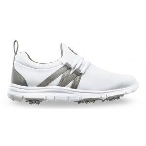 FootJoy Junior Girls Leisure Golf Shoes White/Grey - 48209
