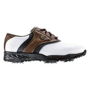 FootJoy Junior Originals Golf Shoes White/Brown/Black - 45041