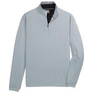 FootJoy Lightweight Quarter-Zip Golf Pullover Grey/Ice Blue 25206