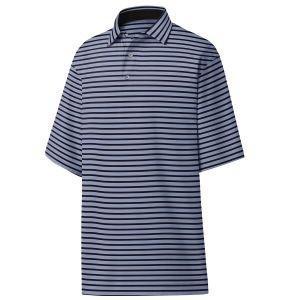 FootJoy Lisle 2-Color Stripe Self Collar Golf Polo - Lavender/Black 26415