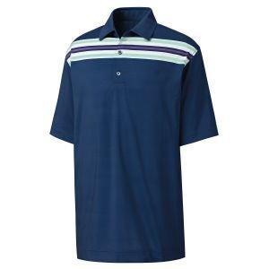 FootJoy Lisle Chest Stripe Self Collar Golf Polo - 26186