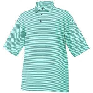 FootJoy Lisle Feeder Stripe Self Collar Golf Polo