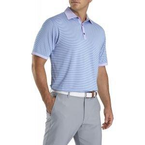 FootJoy Lisle Feeder Solid Trim Self Collar Golf Polo Lavender/Blue Grey 26373