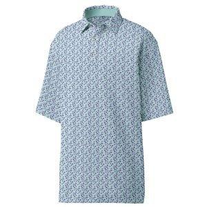 FootJoy Lisle Flower Print Self Collar Golf Polo 26180