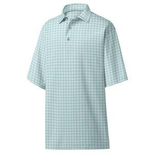 FootJoy Lisle Plaid Print Self Collar Golf Polo 26170
