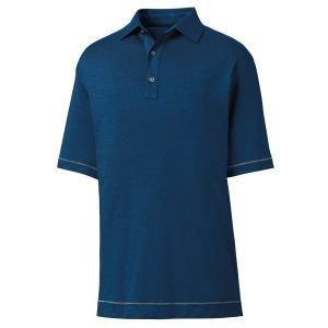FootJoy Lisle Space Dye Microstripe Self Collar Golf Polo - 26174