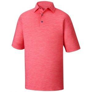 FootJoy Lisle Space Dyed Self Collar Golf Polo Shirt Pink Azalea - 22917