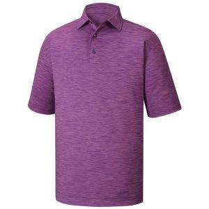 FootJoy Lisle Space Dyed Self Collar Golf Polo Shirt Violet