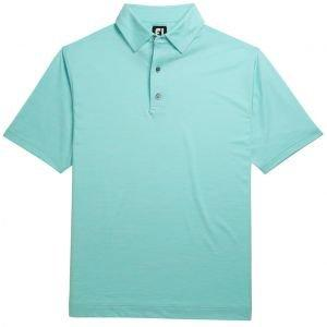 FootJoy Lisle Space Dyed Self Collar Golf Polo - Mint 26399