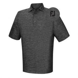 FootJoy Lisle Space Dyed Self Collar Golf Polo - 22323 FJ Tour Logo