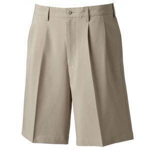 FootJoy Mens Pleated Golf Shorts Khaki - 24075
