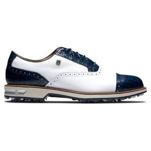 FootJoy Premiere Series Tarlow Golf Shoes White/Navy Cap Toe