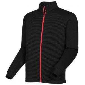 FootJoy Ribbed Fleece Full-Zip Golf Jacket Black 25066