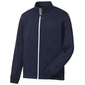 FootJoy Ribbed Sweater Fleece Golf Jacket Navy - 25065