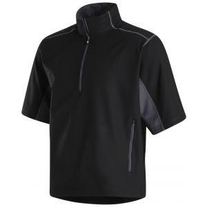 FootJoy Short Sleeve Sport Windshirt Golf Pullover Black/Charcoal 32666