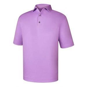 FootJoy Solid Lisle Self Collar Golf Polo Heather Lavender 25568