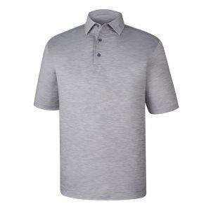 FootJoy Lisle Space Dyed Golf Polo Grey - 25567