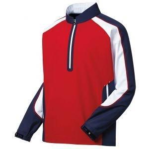 FootJoy Sport Golf Windshirt Red/Navy/White - 32644