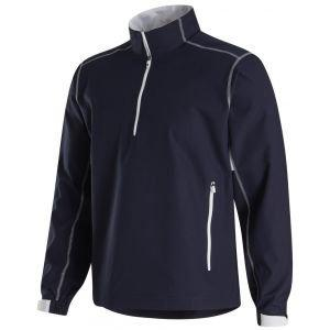 FootJoy Sport Windshirt Golf Pullover - Navy/White 32659