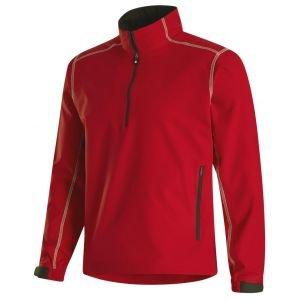 FootJoy Sport Windshirt Golf Polo - Red/Black 32662