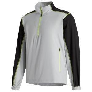 FootJoy Sport Windshirt Golf Pullover Silver/Black/Lime 25264