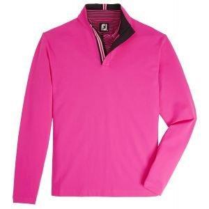 FootJoy Stretch Jersey Quarter-Zip Golf Pullover Hot Pink