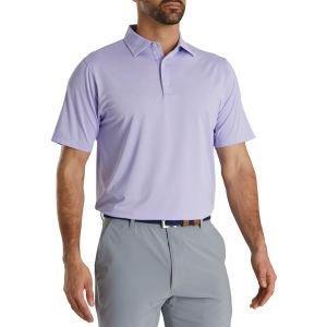 FootJoy Stretch Lisle Dot Print Self Golf Polo Lilac/White