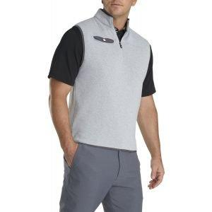 FootJoy Sweater Fleece Quarter-Zip Golf Vest Heather Grey/Charcoal 25136