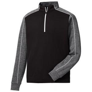FootJoy Tonal Heather Golf Pullover Black 25060