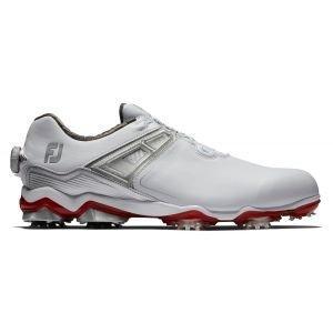 FootJoy Tour X Boa Golf Shoes 2020 - White/Red 55406