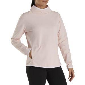 FootJoy Women's Brushed Back Pique Cowl Golf Pullover Heather Blush 27663
