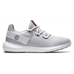 FootJoy Womens Coastal Flex Golf Shoes White/Grey