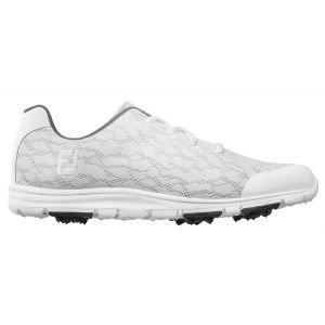FootJoy Womens Enjoy Golf Shoes White/Grey - 95712