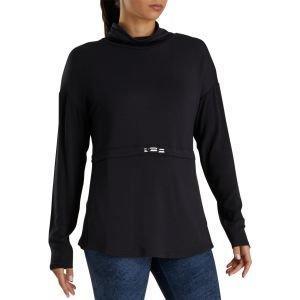 FootJoy Women's Funnel Collar Golf Pullover Black