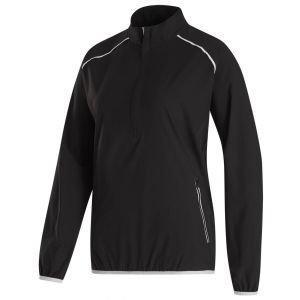 FootJoy Women's Half Zip Woven Golf Wind Jacket Black 33772