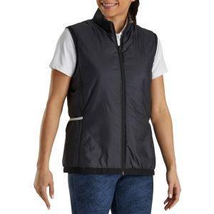 FootJoy Women's Insulated Reversible Golf Vest Black/White