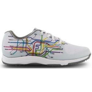 FootJoy Womens Leisure Golf Shoes White/Subway Print - 92913