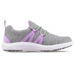 FootJoy Womens Leisure Slip-On Golf Shoes Grey/Orchid