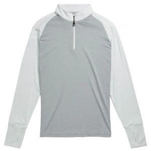FootJoy Womens Long Sleeve Sun Protection Golf Shirt - White/Heather Grey