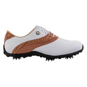 FootJoy Womens Lopro Collection Golf Shoes White/Tan - 93926