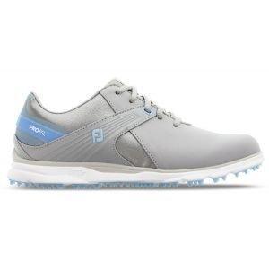 FootJoy Womens Pro SL Golf Shoes Grey/Light Blue 98118