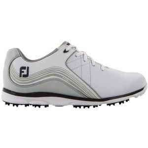FootJoy Womens Pro/SL Spikeless Golf Shoes White/Charcoal - 98100