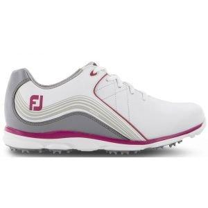 Ladies Footjoy Pro SL Golf Shoes White/Pink 98101