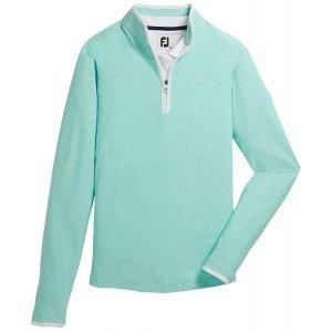 FootJoy Women's Quarter-Zip Space Dye Mid-Layer Golf Pullover Aquamarine