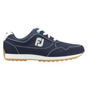 FootJoy Womens Sport Retro Spikeless Golf Shoes Navy - 92387