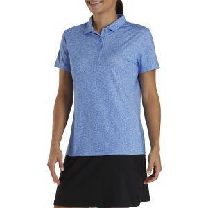 FootJoy Women's Spot Print Golf Polo Blue Jay 27494