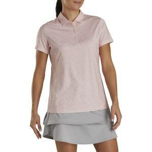FootJoy Women's Spot Print Golf Polo Blush Pink 27495